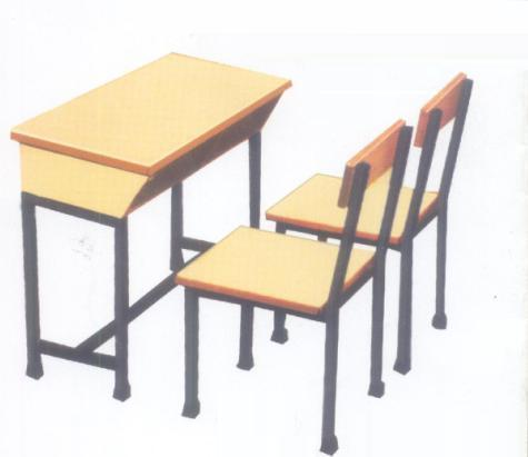 Dual Desk with Two Chair